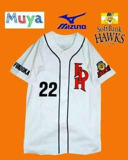 mizuno softbank hawks classic baseball jersey