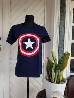 Captain America Navy Blue Shirt