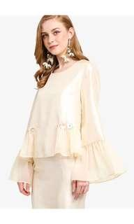 Lubna Frilled Top with Skirt