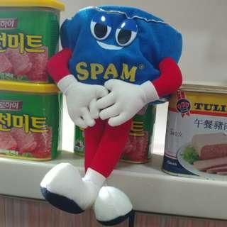 Vintage Spam 午餐肉 毛公仔 plush