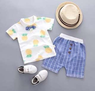 Boy Set - Pineapple print