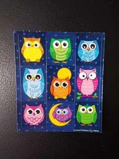 [INSTOCK] BN Small Colourful Owls Stickers (Carson Dellosa)