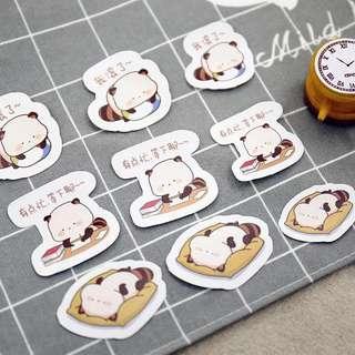 Cute Raccoon Scrapbook Stickers