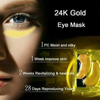 New Gold Crystal Collagen Eye Mask