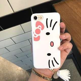Iphone 6 White Hello Kitty Matte Hard Case with Tassel