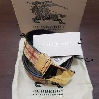 Burberry Haymarket Springfield Reversible Belt