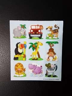 [INSTOCK] BN Small Jungle Animals Stickers (Carson Dellosa)