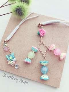 Sweet Candy keychain and Flower keychain