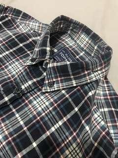Topman Plaid Flannel L/S Shirt (Small)