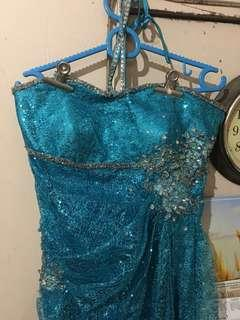 Blue Gown ( for pageant, prom, or other formal events)