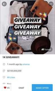 [ repost ] giveaway by umaruu