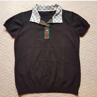 Gucci Knitted Blouse Black