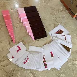 🚚 Montessori brown stairs and pink tower set