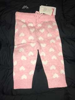 Pink heart pants