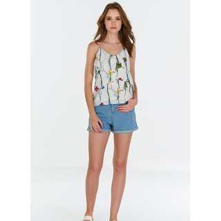 TCL Lilou Floral Printed Top in White