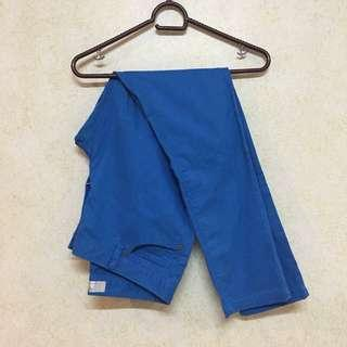 ♡ giordano blue khakis low rise skinny tapered pants ♡