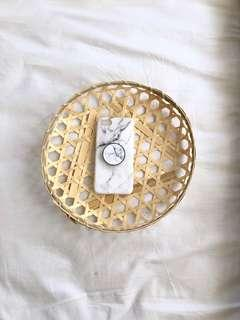 Brand New Iphone 6 White Marble Case with Pop Sucket