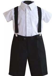 🚚 男童演出白襯衫全新