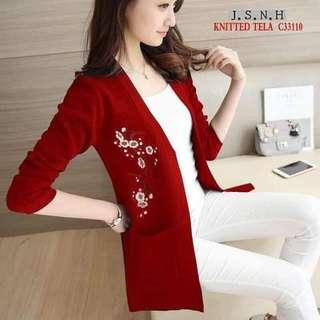 🔖LONG, EMBROIDERED CARDIGAN ☛ only ₱400!♥ Size: freesize