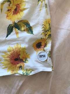 RPM linen sunflower shorts 🌻