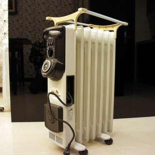 二手葉片式電暖器 北方 NORTHERN 葉片式電暖器7葉片5段式電暖爐 NP-07ZL( 門市更衣室專用,極新少用)