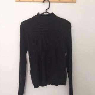 Black knitwear top