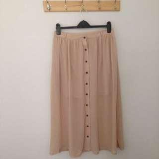 Nude Cotton-on skirt