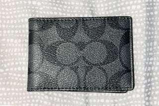 Coach Slip-in Wallet Signature Charcoal