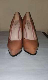 Choco brown nude heels