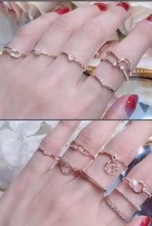 22K/24K Gold Korean Design Rings