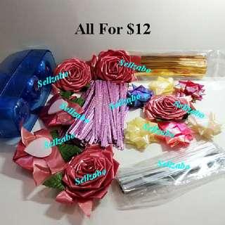 $12 For All ≈ 16 Pieces Bundle Miscellaneous Misc (Gift Presents Wrapping Ribbons)