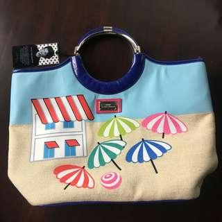 Lulu Guinness Canvas Ring Beach Tote/Bag
