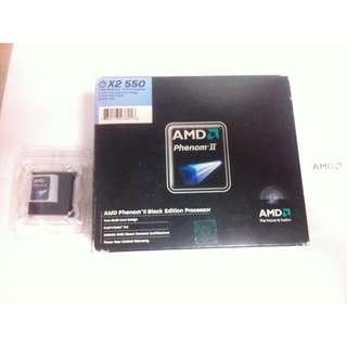AMD PhenomⅡ X2 550BE ~可開四核心型號B50~需主機板支援~黑核版不鎖頻率~二手良品~ CPU