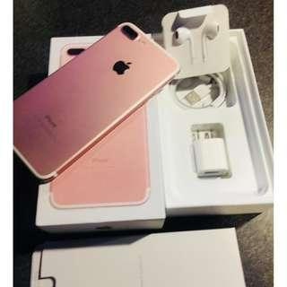 iPhone 7plus 256gb rosegold