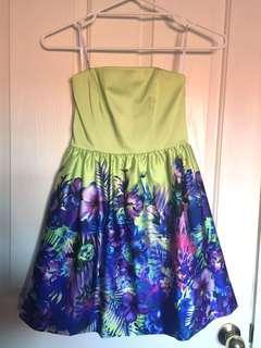 Forever new satin floral formal dress