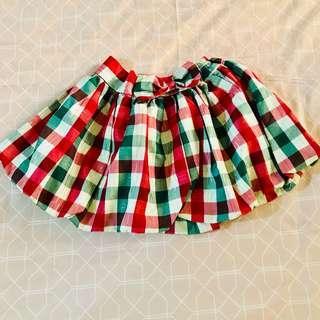 Girls Checkered Skirt