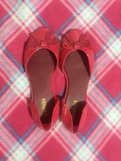 Melissa Pink Jelly Flats