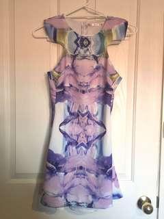 Abstract purple dress