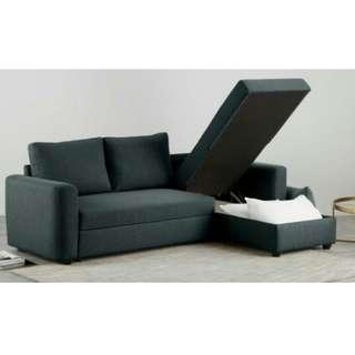NEW AMES L-SHAPE SOFA BED WITH STORAGE