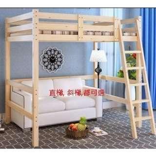高架床 實木床 組合床 單人床 3尺床 書架 松木床 碌架床 租房 劏房 公屋 居屋 私樓 181015r