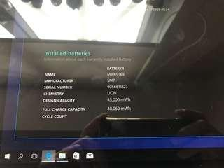 """Surface pro 5 2017 12.3"""" i7/256/8GB Platinum(exchanged new), Warranty date 17-9-2019"""