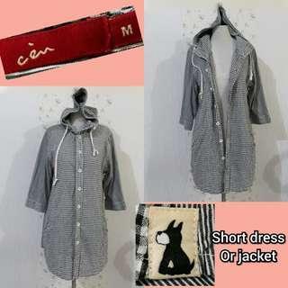 🇰🇷KOREAN HOODY SHORT DRESS/JACKET