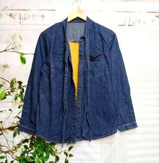 Denim jacket blouse