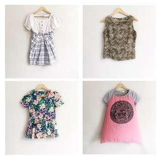4 tops and dresses for 300