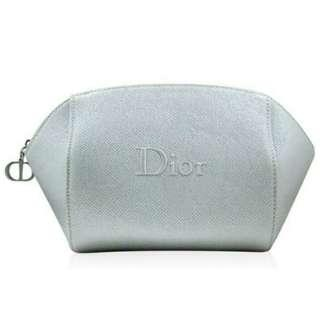 🚚 Dior 迪奧 星空銀灰 浮雕Logo 美妝包