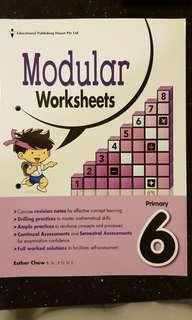 Math P6 Modular Worksheets
