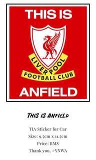 Liverpool FC Car Sticker