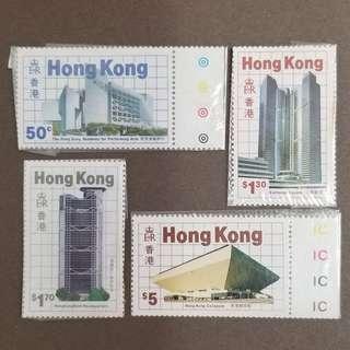 【絕版】《香港新建築物》郵票 1985 年