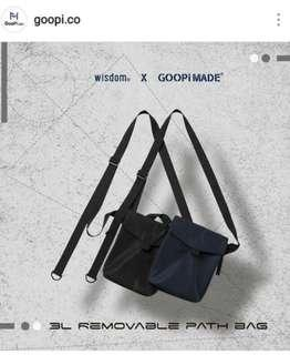 🚚 Goopi x Wisdom 3L Removable Patch bag