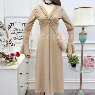 TC3043 Korea V Designer Dress (Khakis,Pink,Mandarin,Black)